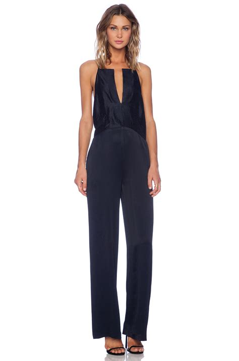 Vivien Jumpsuit Navy chan theresa jumpsuit in navy from revolveclothing