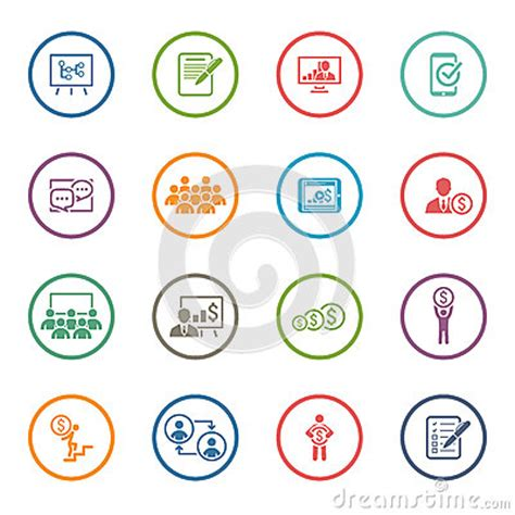 design your icon online business coaching icon set online learning flat design