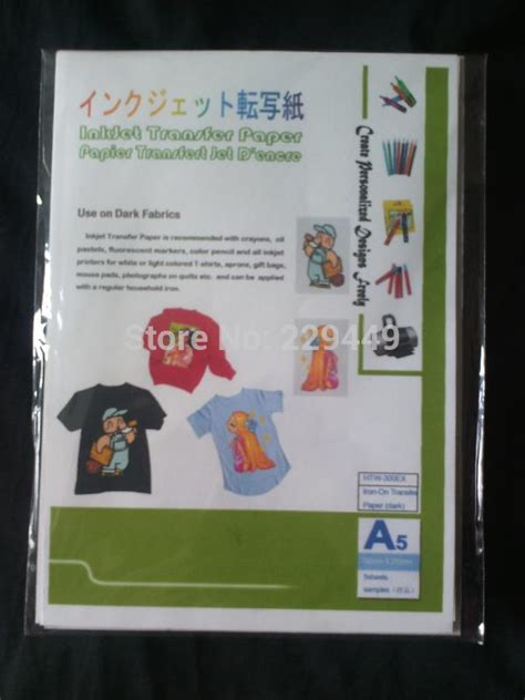 avery iron on transfer paper template aliexpress com buy iron on transfers paper a5 5pcs