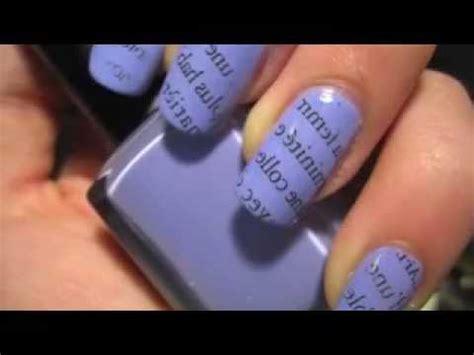 tutorial nail art detto fatto газетный маникюр видео инструкция newspaper nails youtube