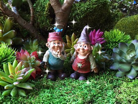 fairy garden gnome couple miniature garden gnome