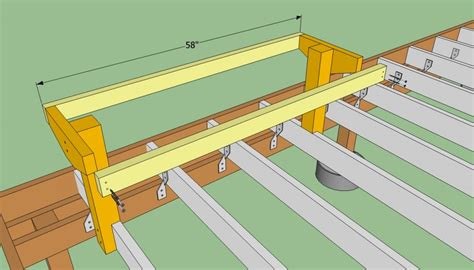 how to build a deck bench seat how to build a deck bench howtospecialist how to build step by step diy plans