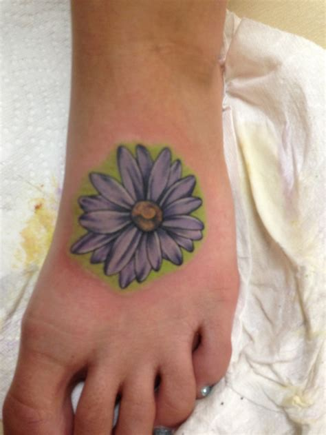 gerber daisy tattoo i finally got my gerber tattoos