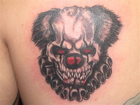 scary clown tattoos 14 scary clown designs