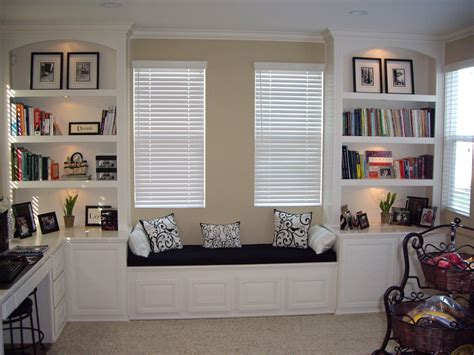 Small Reading Room Design Ideas by Custom Home Office Cabinets In Southern California
