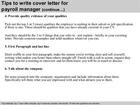 cover letter for payroll administrator payroll manager cover letter