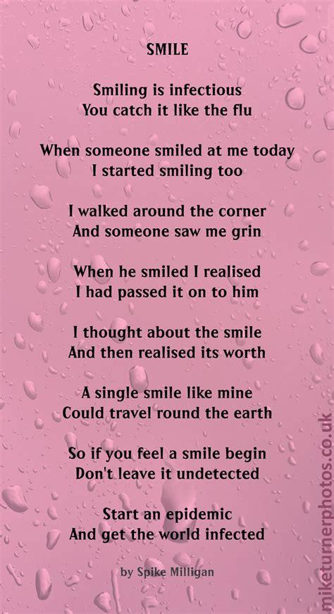 smile  poem  spike milligan mike turner photoshoots