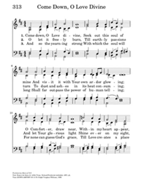 the comforter has come hymn come down o love divine hymnary org