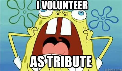I Volunteer As Tribute Meme - can t hide from me by cordelia kingsbridge