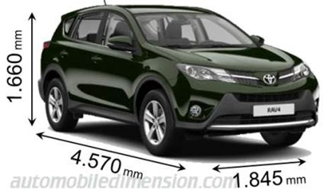 Toyota Rav4 Size Dimensions Of Toyota Cars Showing Length Width And Height