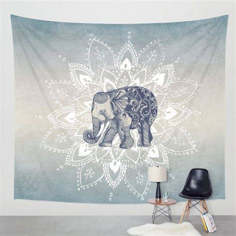 130x150cm Elephant Tapestry Colored Printed Decorative 6 elephant tapestry aubusson colored printed decorative