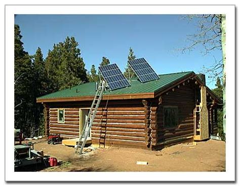 Solar Panels For Cabin by Our Colorado Mountain Cabin