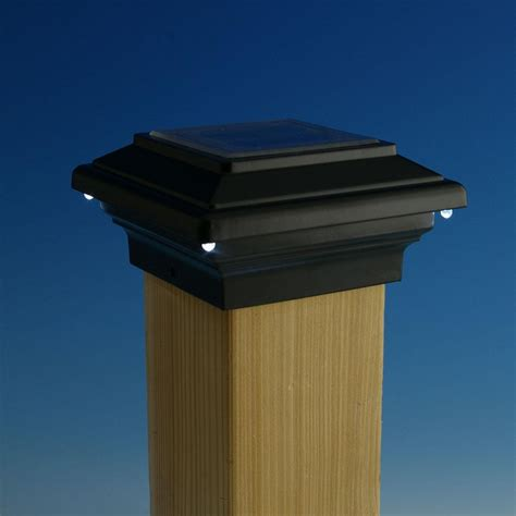 post cap lights solar solar post cap lights black all about house design
