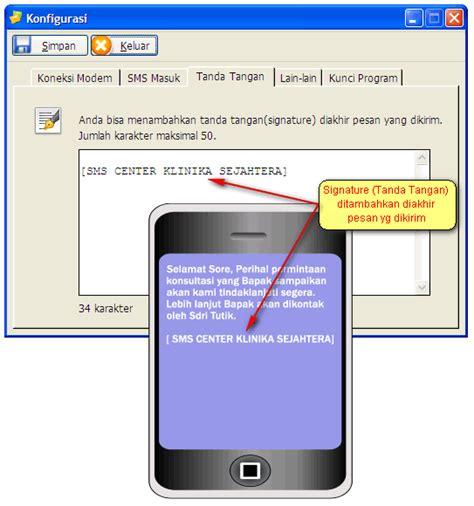 Modem Gili Sms tilan software signature sms footer sms sms massal
