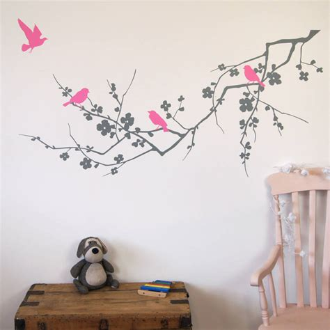 Bird Stickers For Walls birds on branch wall stickers by parkins interiors