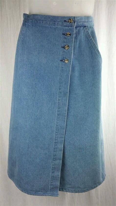 vintage ll bean wrap around modest skirt womens size