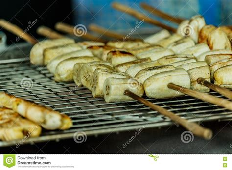 grilled bananas dessert bars and grilled bananas for dessert being grilled on the rack stock image image 82345509