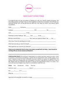 client intake form template salon client intake form templates image studios 360