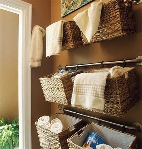 decorative baskets inspiration for using them in your bathroom organization