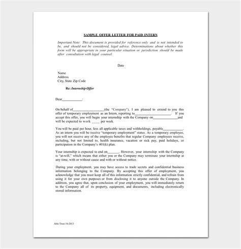 Internship Invitation Letter Format