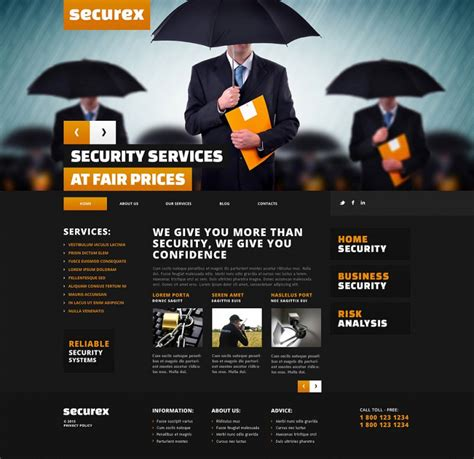 security company template 10 high level security templates themes