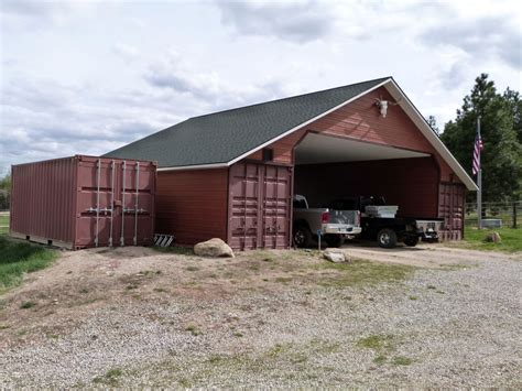 Building Barns And Sheds by Isbu Shipping Container Barn Raising Anyone The