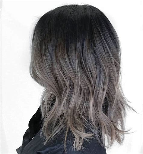 how to do ash ombre highlight on short hair image result for balayage ash long hairstyles