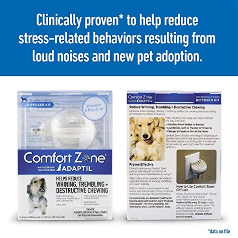 comfort zone for dogs comfort zone adaptil diffuser kit for dog calming import