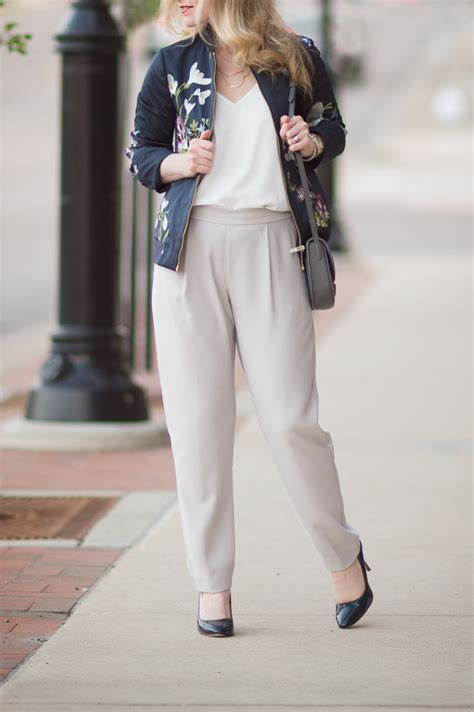 Wallis Trousers Shortcut To Gallic Chic by How To Style A Bomber From Day To The Blue