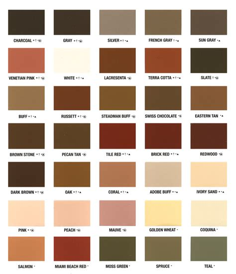 tope color color chart and patterns eagle concrete corp broward s