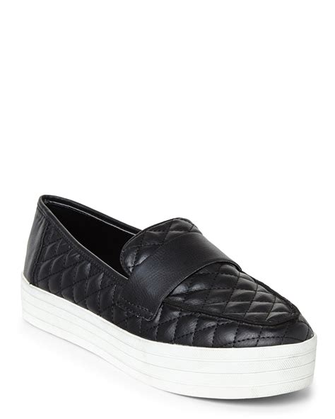 Steve Madden Quilted Sneakers For by Lyst Steve Madden Black Howell Quilted Platform Sneakers In Black