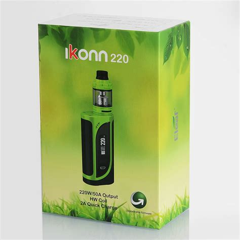 Eleaf Ikonn 220w With Ello Starter Kit Vaporizer Authentic eleaf ikonn 220w tc starter kit batteries included