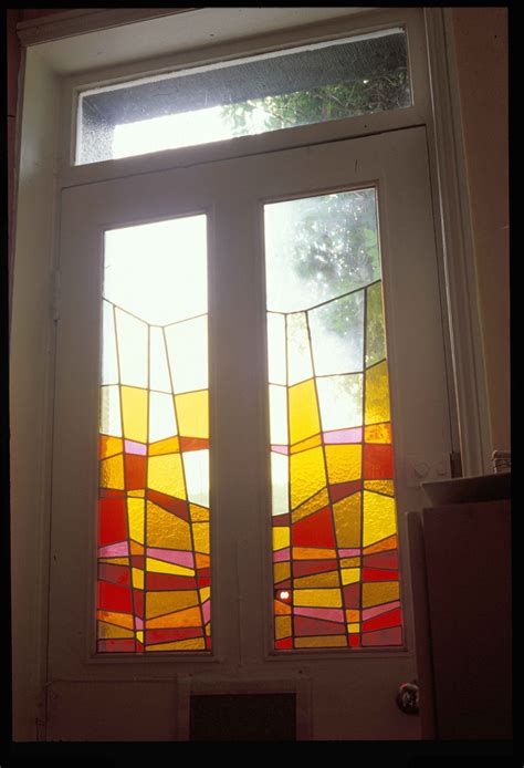 Jackie Hunt Stained Glass And Illustration Painting Glass Panel Doors