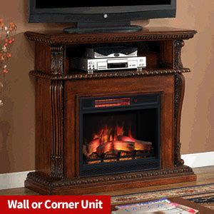 corner infrared electric fireplace media cabinet 23de9047 pc81 cherry finishes
