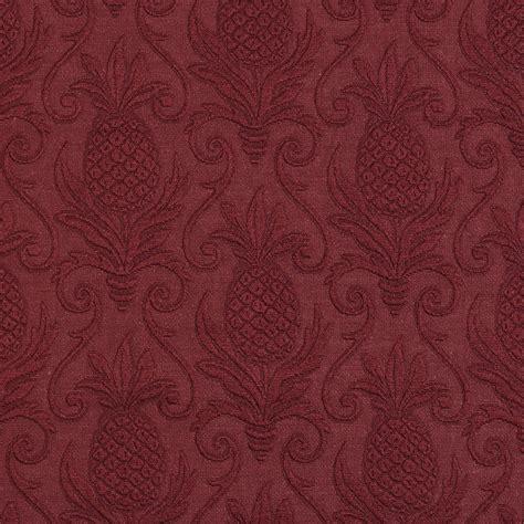 ruby wine burgundy pineapple brocade swirl