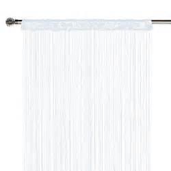 rideau fils spaghetti blanc l 90 x h 240 cm leroy merlin