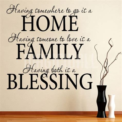 home family blessing wall quotes wall lettering
