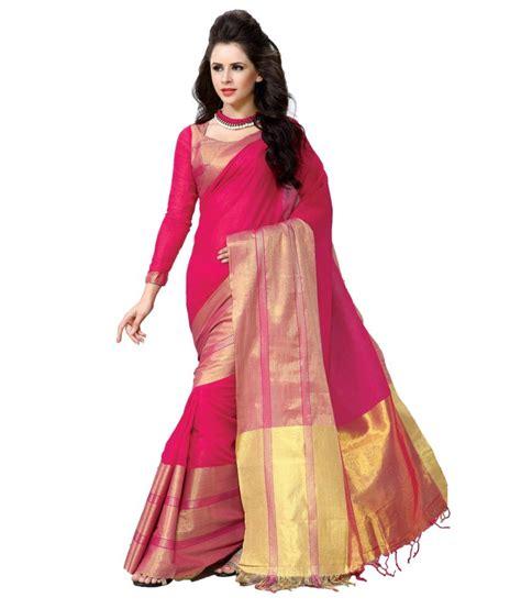 Orderan A N Sari reet pink cotton saree buy reet pink cotton saree at low price snapdeal