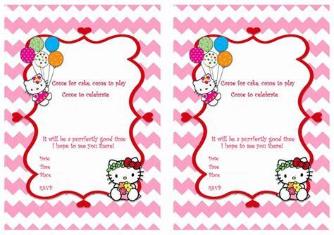 printable birthday invitation cards hello kitty hello kitty free printable birthday party invitations