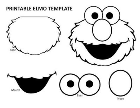 cut out character template printable elmo template elmo birthday elmo