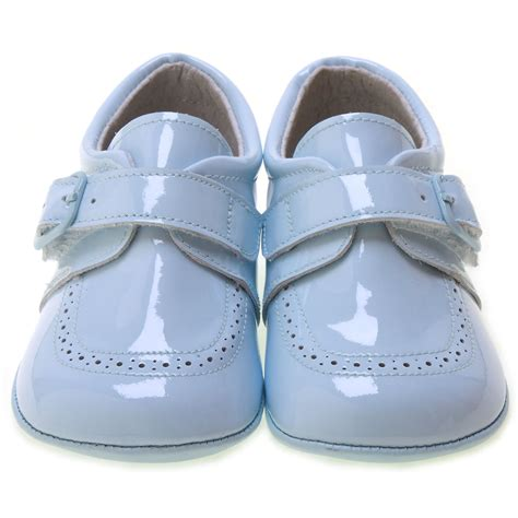 baby boy and shoes blue patent baby boy pram shoes velcro buckle cachet