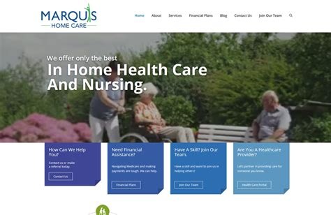 marquis home care website with brains