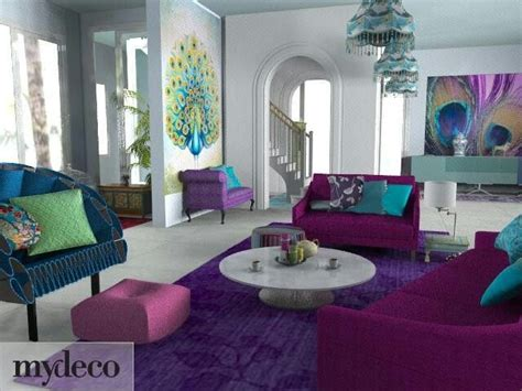 purple teal slate living room interior design ideas peacock colored living room decor for the home