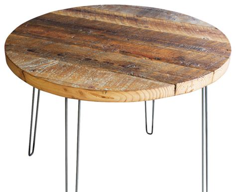 antique barnwood coffee table with hairpin legs rustic