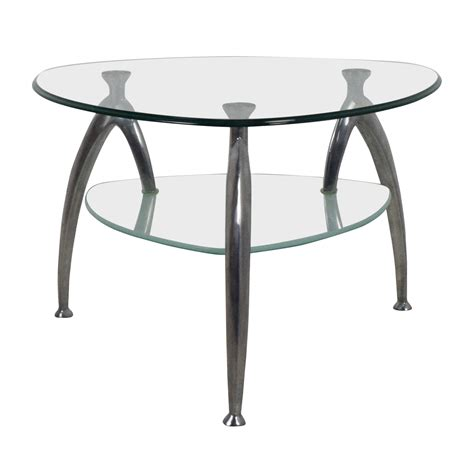 64 geometric glass top coffee table tables