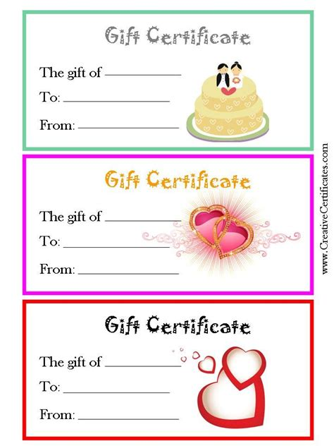 Generic Gift Card Template by 30 Best Gift Certificates Images On Gift Cards