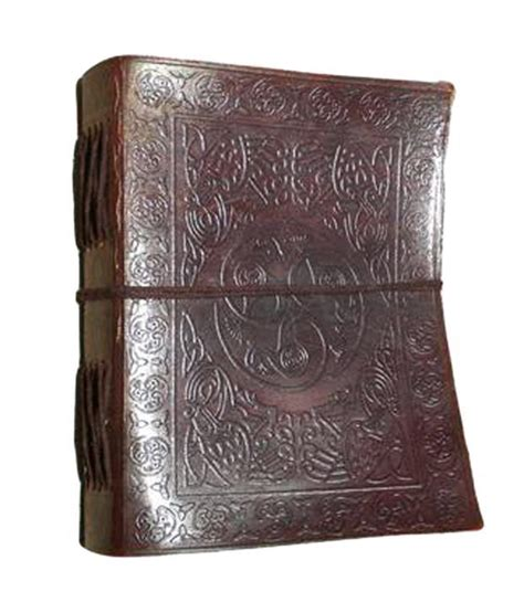 Handmade Diary Cover - handmade leather cover diary celtic peacock design