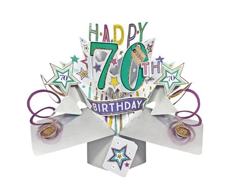 pop up greeting card happy 70th birthday pop up greeting card cards kates