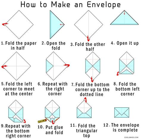 How To Make Envelope With Paper | how to make your own origami envelope from paper
