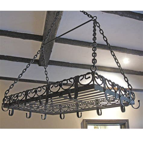 Cast Iron Hanging Pot Rack vintage cast iron hanging pan rack the unique seat company